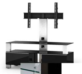 Sonorous MD8123CHBLKWHT - Meuble pour ecran Plasma/LCD en verre et bois
