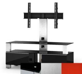 Sonorous MD8123BINXRED - Meuble pour ecran Plasma/LCD en verre et bois
