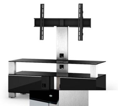 Sonorous MD8123BINXWHT - Meuble pour ecran Plasma/LCD en verre et bois