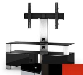Sonorous MD8123BHBLKRED - Meuble pour ecran Plasma/LCD en verre et bois