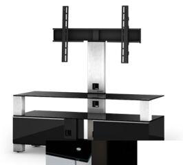 Sonorous MD8123BHBLKWHT - Meuble pour ecran Plasma/LCD en verre et bois