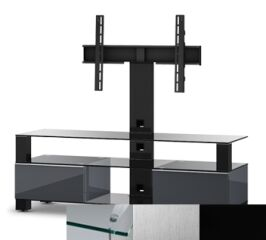 Sonorous MD8143CINXBLK - Meuble pour ecran Plasma/LCD en verre et bois