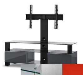 Sonorous MD8143CINXRED - Meuble pour ecran Plasma/LCD en verre et bois