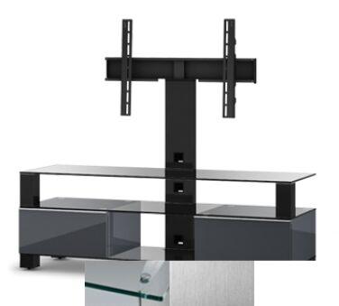 Sonorous MD8143CINXWHT - Meuble pour ecran Plasma/LCD en verre et bois