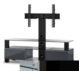 Sonorous MD8143CHBLKBLK - Meuble pour ecran Plasma/LCD en verre et bois
