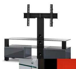 Sonorous MD8143CHBLKRED - Meuble pour ecran Plasma/LCD en verre et bois