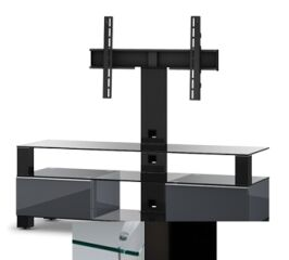 Sonorous MD8143CHBLKWHT - Meuble pour ecran Plasma/LCD en verre et bois