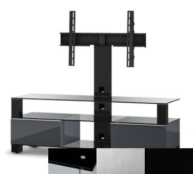 Sonorous MD8143BINXBLK - Meuble pour ecran Plasma/LCD en verre et bois