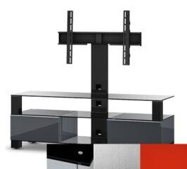 Sonorous MD8143BINXRED - Meuble pour ecran Plasma/LCD en verre et bois