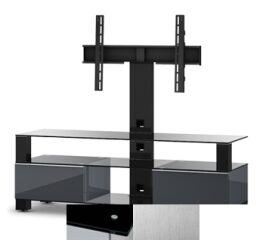 Sonorous MD8143BINXWHT - Meuble pour ecran Plasma/LCD en verre et bois