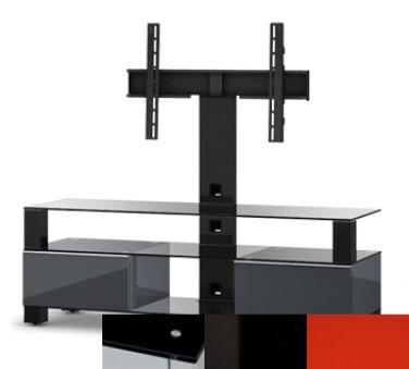 Sonorous MD8143BHBLKRED - Meuble pour ecran Plasma/LCD en verre et bois