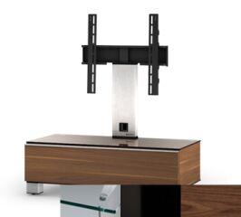 Sonorous MD8095CHBLKWNT - Meuble pour ecran Plasma/LCD en verre et bois