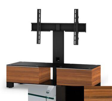 Sonorous MD8120CHBLKAPL - Meuble pour ecran Plasma/LCD en verre et bois