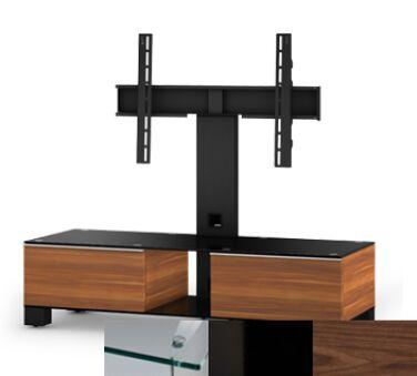 Sonorous MD8120CHBLKWNT - Meuble pour ecran Plasma/LCD en verre et bois