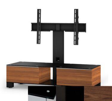 Sonorous MD8120BHBLKWNT - Meuble pour ecran Plasma/LCD en verre et bois