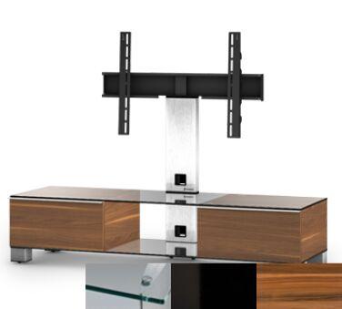 Sonorous MD8140CHBLKAPL - Meuble pour ecran Plasma/LCD en verre et bois