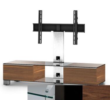 Sonorous MD8140CHBLKWNT - Meuble pour ecran Plasma/LCD en verre et bois