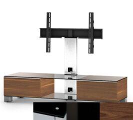 Sonorous MD8140BHBLKWNT - Meuble pour ecran Plasma/LCD en verre et bois