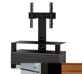 Sonorous MD8953CHBLKAPL - Meuble pour ecran Plasma/LCD en verre et bois