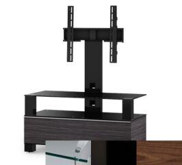 Sonorous MD8953CHBLKWNT - Meuble pour ecran Plasma/LCD en verre et bois