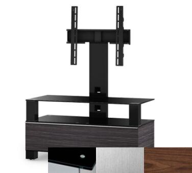 Sonorous MD8953BINXWNT - Meuble pour ecran Plasma/LCD en verre et bois