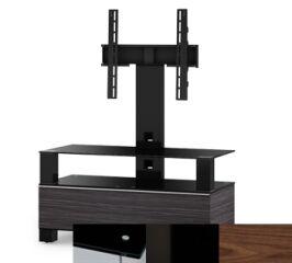 Sonorous MD8953BHBLKWNT - Meuble pour ecran Plasma/LCD en verre et bois