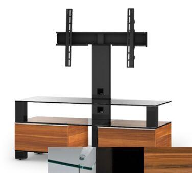 Sonorous MD8123CHBLKAPL - Meuble pour ecran Plasma/LCD en verre et bois