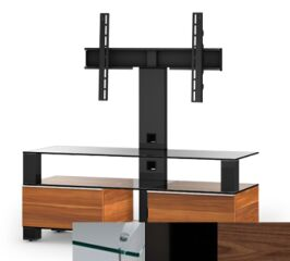 Sonorous MD8123CHBLKWNT - Meuble pour ecran Plasma/LCD en verre et bois