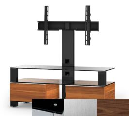 Sonorous MD8123BINXWNT - Meuble pour ecran Plasma/LCD en verre et bois