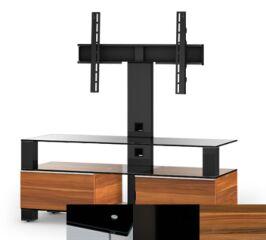 Sonorous MD8123BHBLKAPL - Meuble pour ecran Plasma/LCD en verre et bois