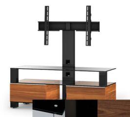 Sonorous MD8123BHBLKWNT - Meuble pour ecran Plasma/LCD en verre et bois