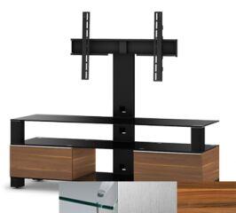 Sonorous MD8143CINXAPL - Meuble pour ecran Plasma/LCD en verre et bois
