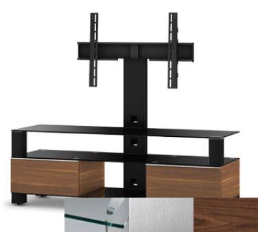Sonorous MD8143CINXWNT - Meuble pour ecran Plasma/LCD en verre et bois
