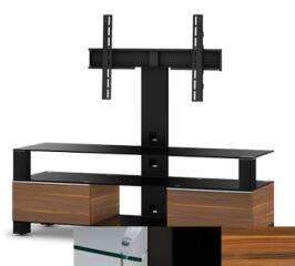Sonorous MD8143CHBLKAPL - Meuble pour ecran Plasma/LCD en verre et bois