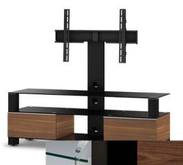 Sonorous MD8143CHBLKWNT - Meuble pour ecran Plasma/LCD en verre et bois