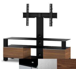 Sonorous MD8143BINXWNT - Meuble pour ecran Plasma/LCD en verre et bois