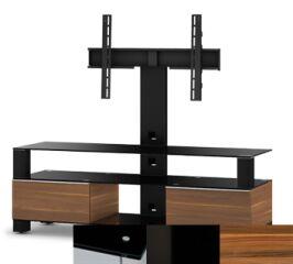Sonorous MD8143BHBLKAPL - Meuble pour ecran Plasma/LCD en verre et bois