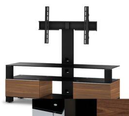 Sonorous MD8143BHBLKWNT - Meuble pour ecran Plasma/LCD en verre et bois
