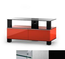 Sonorous MD9095CINXBLK - Meuble pour ecran Plasma/LCD en verre et bois