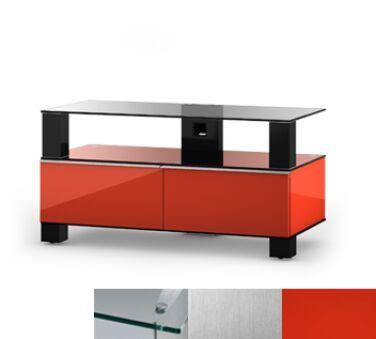 Sonorous MD9095CINXRED - Meuble pour ecran Plasma/LCD en verre et bois
