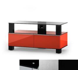 Sonorous MD9095BINXBLK - Meuble pour ecran Plasma/LCD en verre et bois