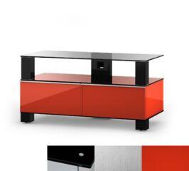 Sonorous MD9095BINXRED - Meuble pour ecran Plasma/LCD en verre et bois