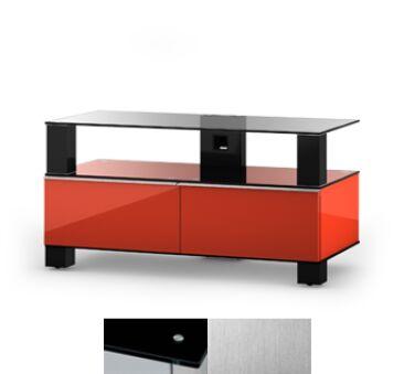 Sonorous MD9095BINXWHT - Meuble pour ecran Plasma/LCD en verre et bois
