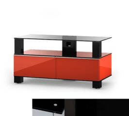 Sonorous MD9095BHBLKBLK - Meuble pour ecran Plasma/LCD en verre et bois