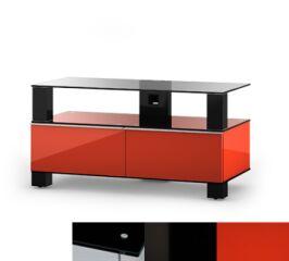 Sonorous MD9095BHBLKRED - Meuble pour ecran Plasma/LCD en verre et bois