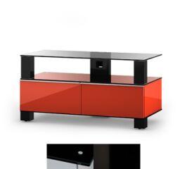 Sonorous MD9095BHBLKWHT - Meuble pour ecran Plasma/LCD en verre et bois
