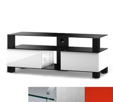 Sonorous MD9120CINXRED - Meuble pour ecran Plasma/LCD en verre et bois