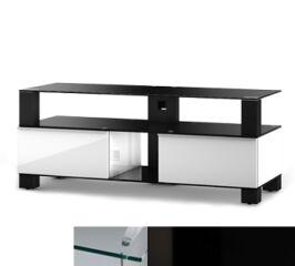 Sonorous MD9120CHBLKBLK - Meuble pour ecran Plasma/LCD en verre et bois