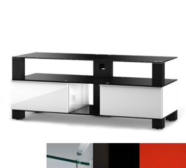 Sonorous MD9120CHBLKRED - Meuble pour ecran Plasma/LCD en verre et bois