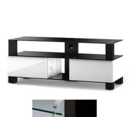 Sonorous MD9120CHBLKWHT - Meuble pour ecran Plasma/LCD en verre et bois